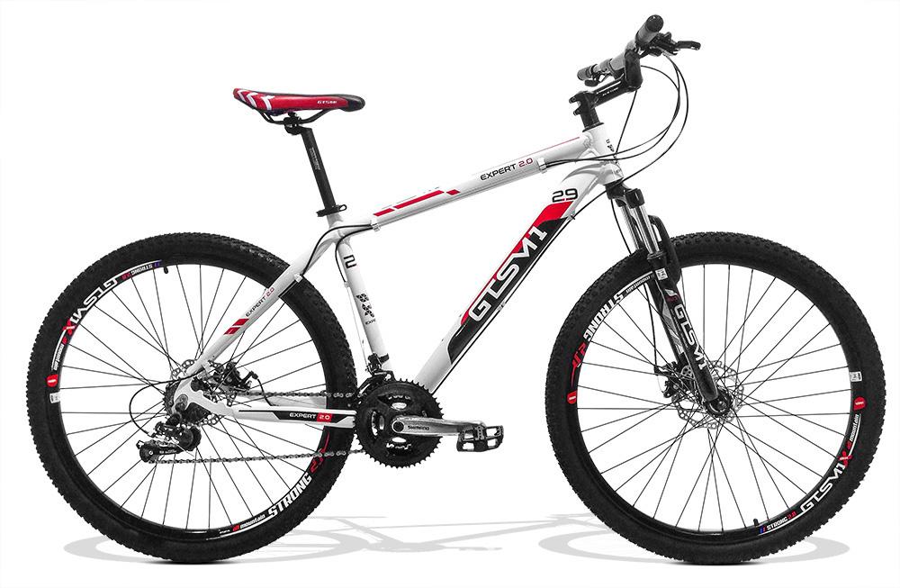 Bicicleta GTS Aro 29 Freio a Disco Câmbio Shimano 24 Marchas e Amortecedor + Capacete de Brinde | GTS M1 New Expert 2.0
