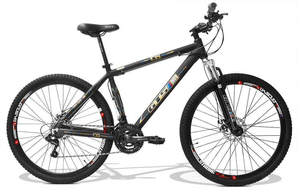 Bicicleta GTSM1 Obstáculo 1.0 aro 29 freio a disco 24 marchas + Brindes Ciclo Computador + Suporte de Squeeze + Squeeze Energy