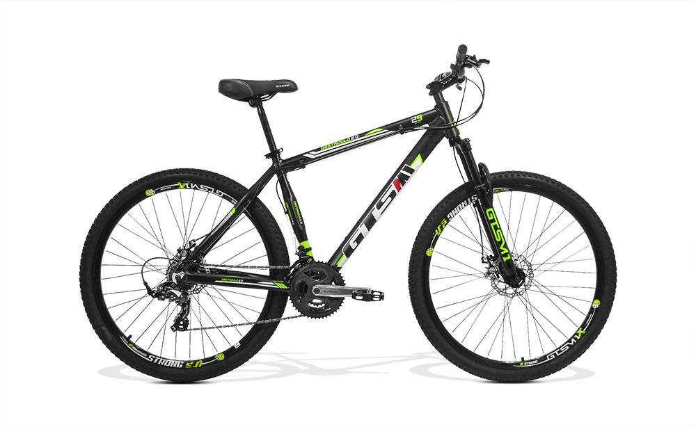 Bicicleta GTSM1 Obstáculo 2.0 Pró aro 29 freio a disco 24 marchas Suspensão com trava+ Brinde SQUEEZE MALETA DE FERRAMENTAS
