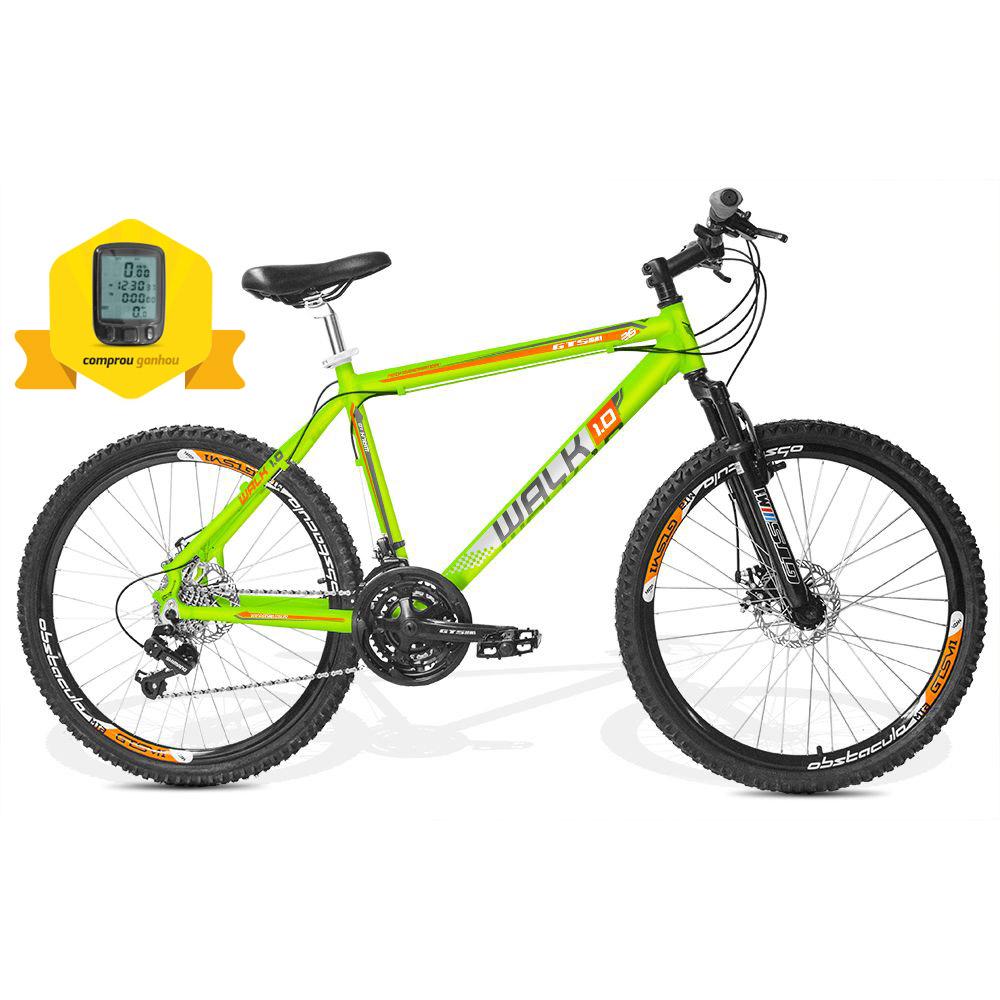 Bicicleta GTSM1 Walk 1.0 aro 26 freio a disco 21v marchas + BRINDE CICLO COMPUTADOR