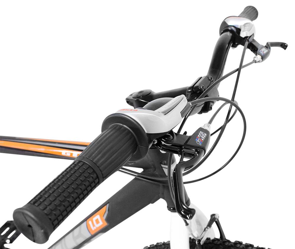 Bicicleta GTS Aro 29 Cambio Shimano 24 Marchas Freio V-Brake e Garfo Rígido + Velocímetro e Bomba de Encher Pneu de Brinde | GTS M1 Walk 1.0