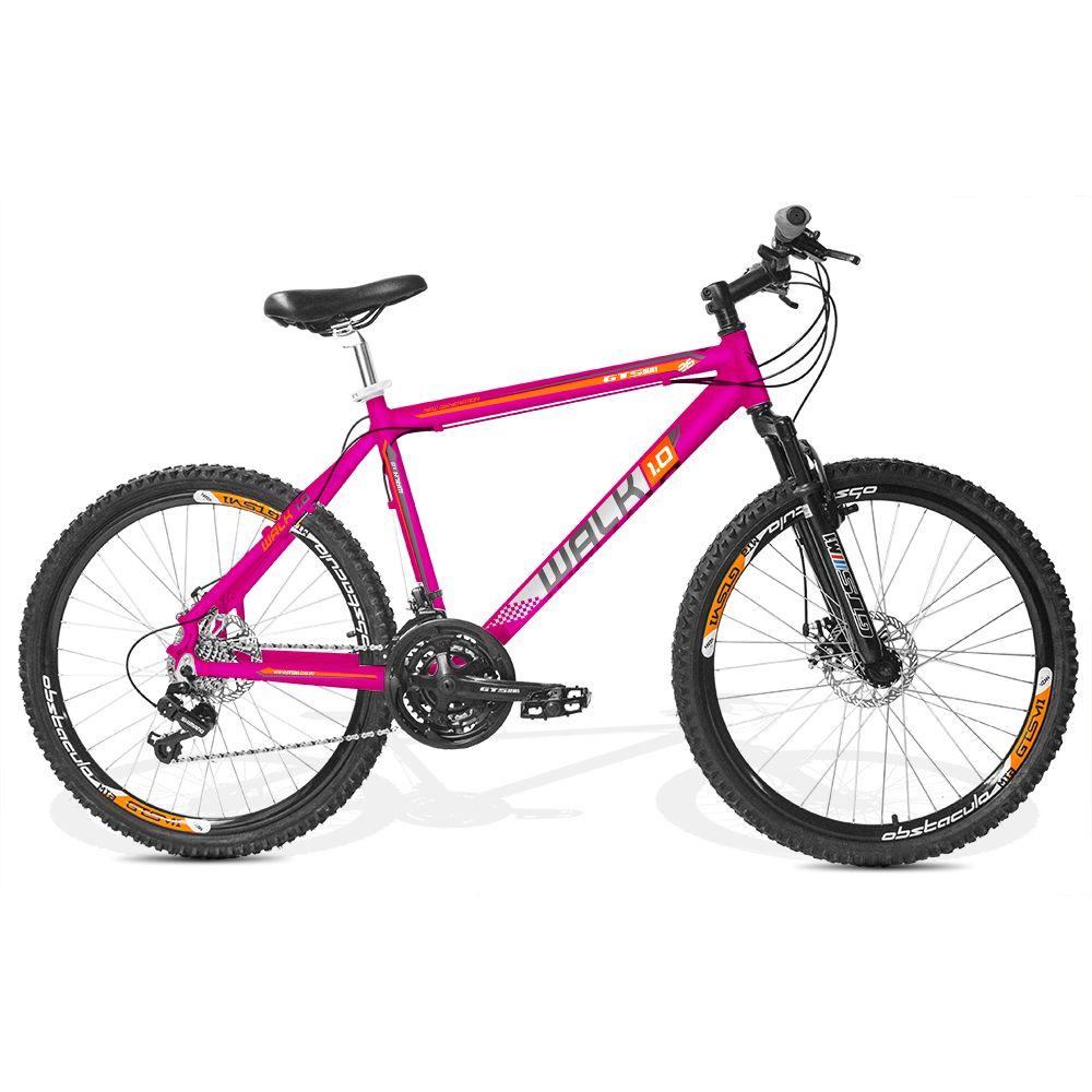 Bicicleta GTSM1 Walk 1.0 Feminina aro 26 freio a disco 21 marchas