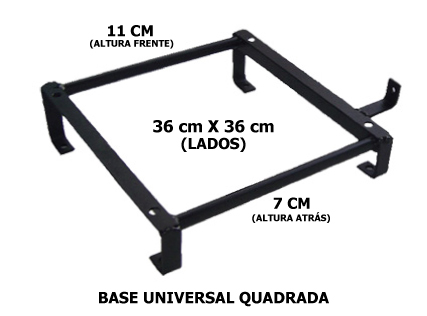 KIT145 - BASE UNIVERSAL QUADRADA + TRILHOS  - SM Race