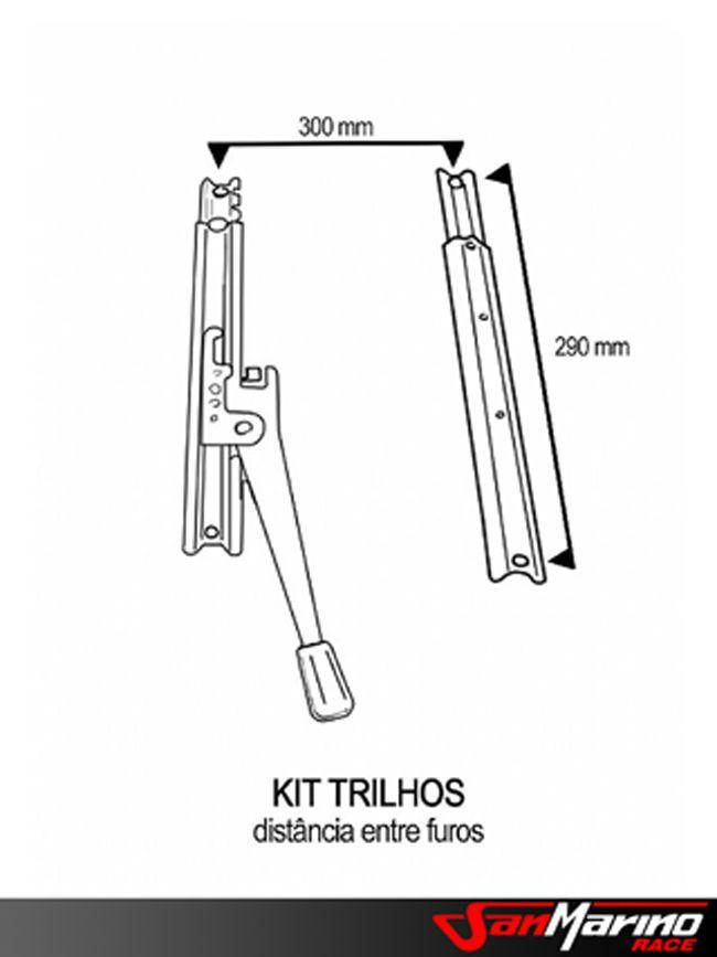 KIT145 - BASE UNIVERSAL QUADRADA + TRILHOS