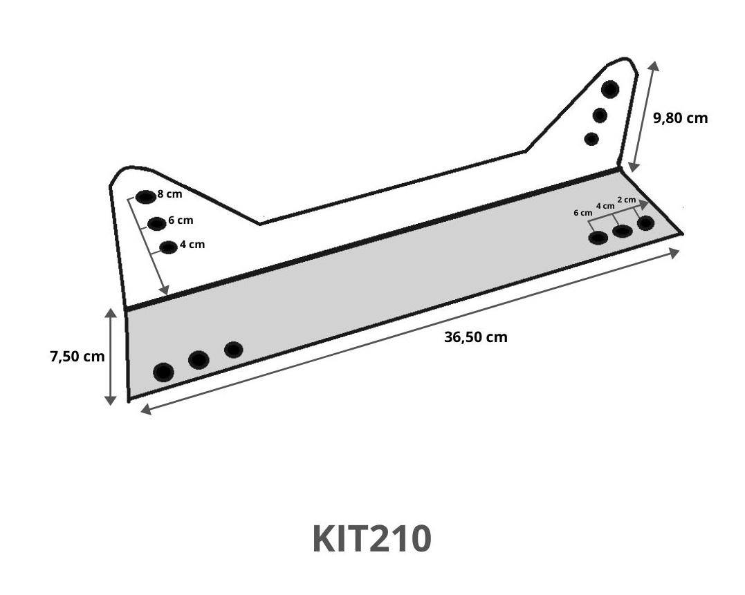 KIT210 - SUPORTE FIXAÇÃO LATERAL