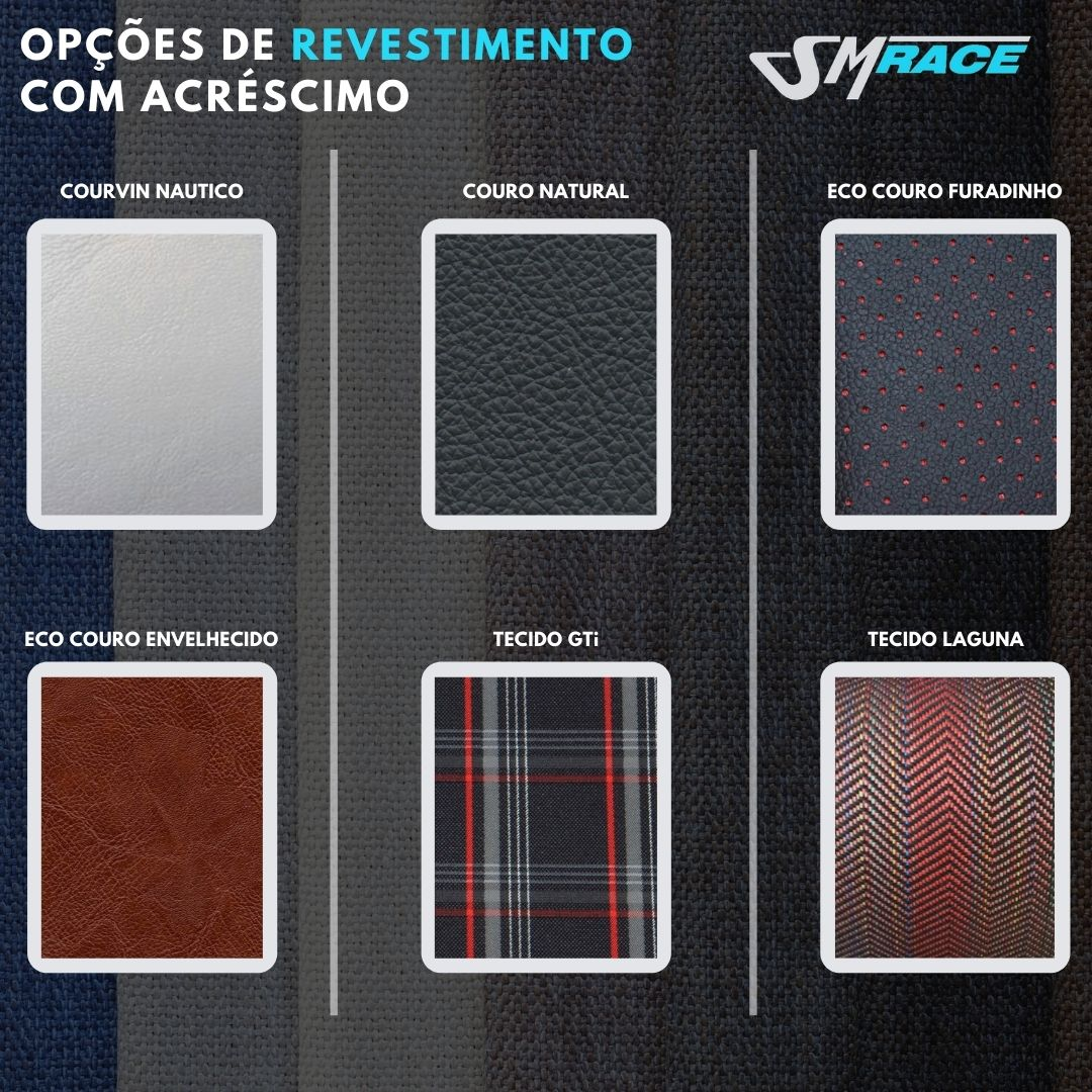 KIT 2 BANCOS BAF105 + BASES + CAPA BANCO TRASEIRO