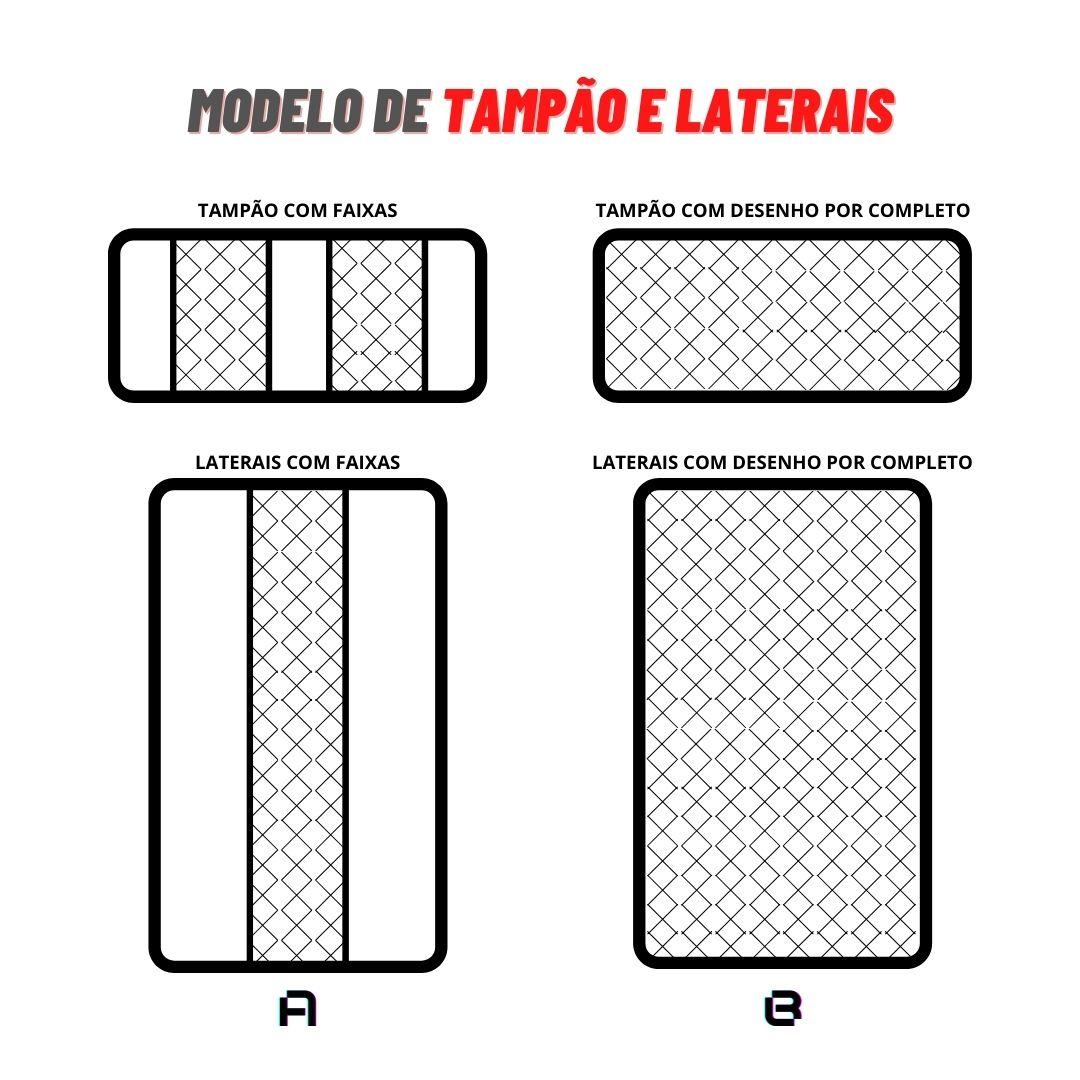 LATERAIS DE PORTA DIANTEIRA/TRASEIRA + TAMPÃO