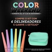 COLOR WEEKEND - Delineador Colorido (VEGANO) + 01 estojo de BRINDE