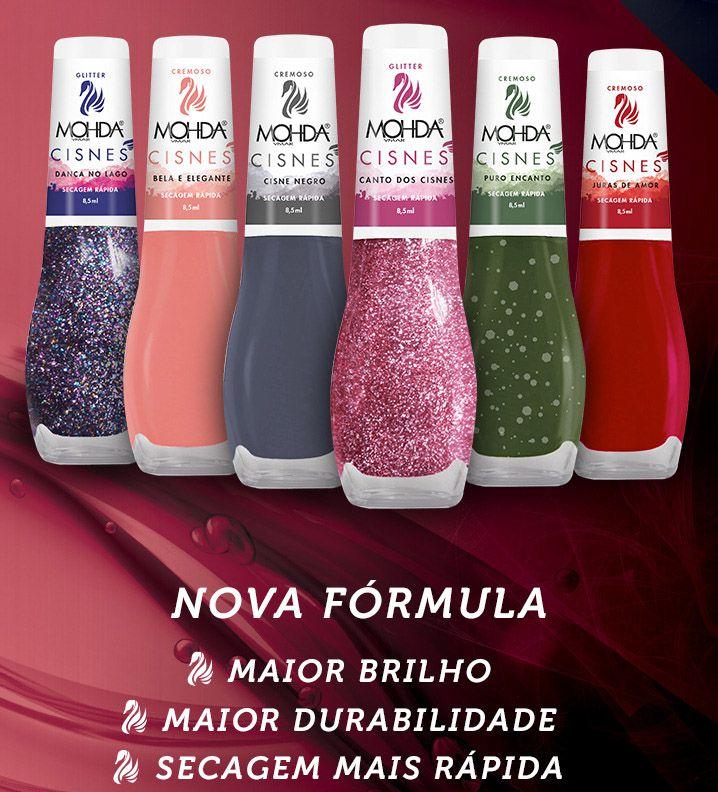 Coleção Cisnes - 06 cores (+ brilho, secagem e durabilidade)  - E-Mohda