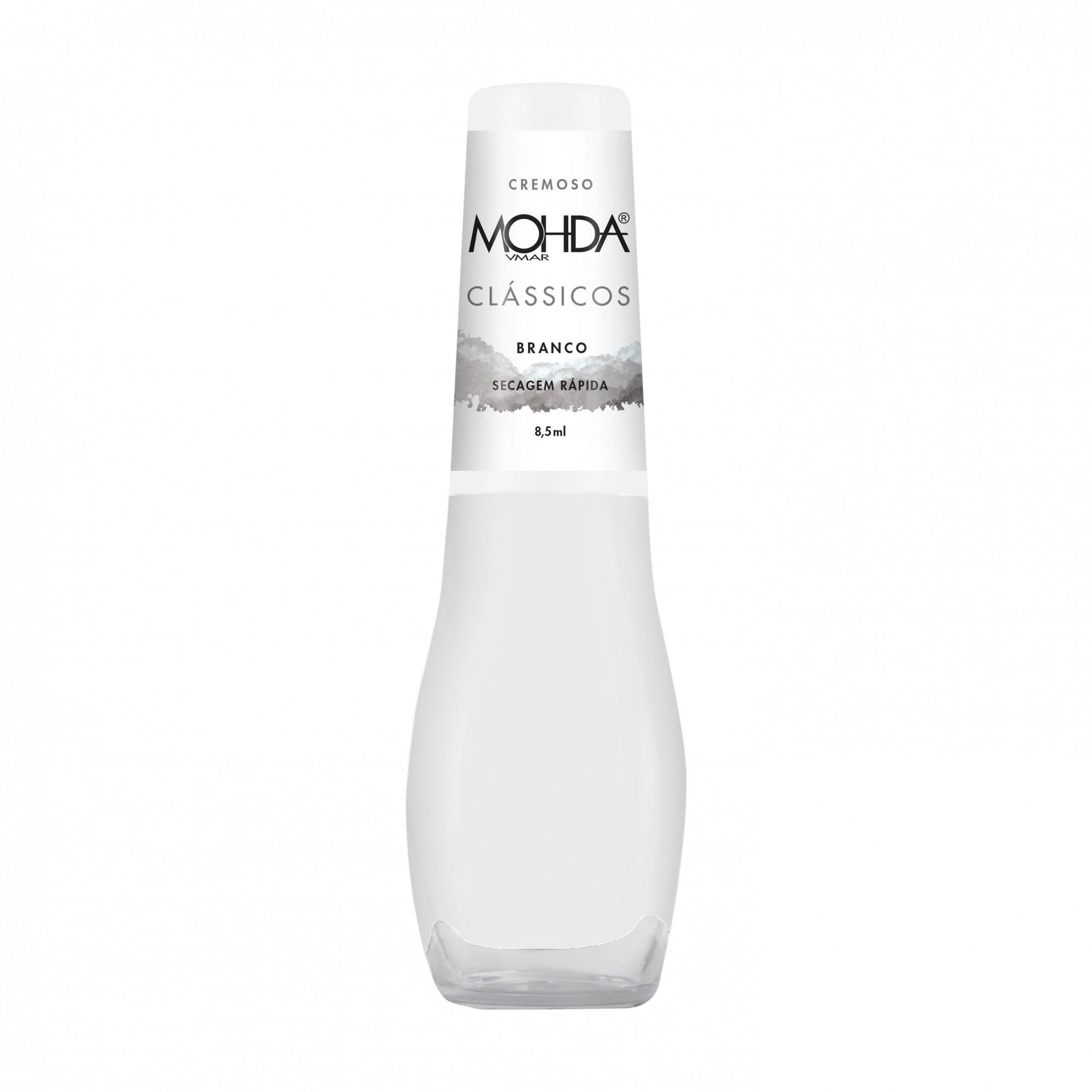 Esmalte Mohda Cremoso - Branco  - E-Mohda