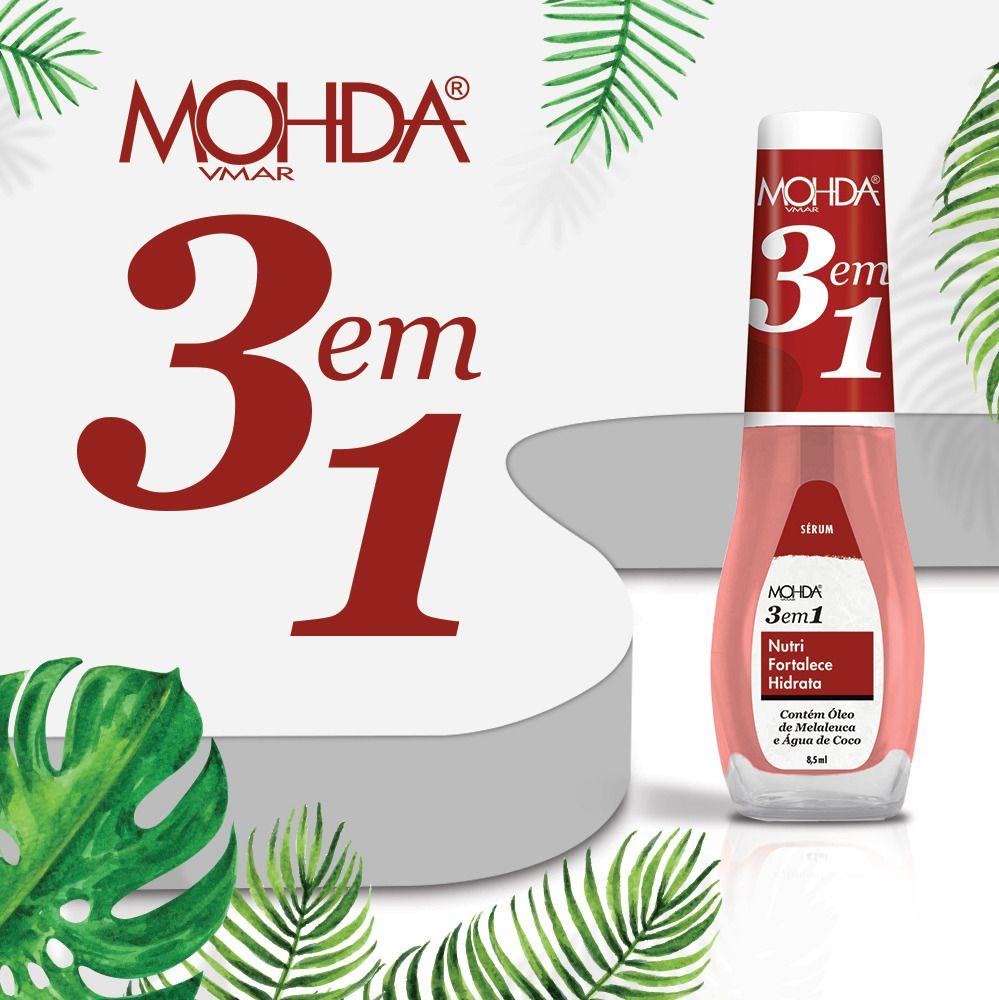 Sérum 3 em 1 - Nutri, Hidrata e Fortalece   - E-Mohda