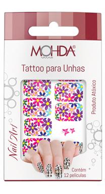 Tattoo para unhas Mohda - Floral  - Maria Pomposa