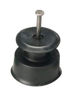 Isolador Roldana 36x36 Preto - 100 Unidades  - Curto Compras Rural