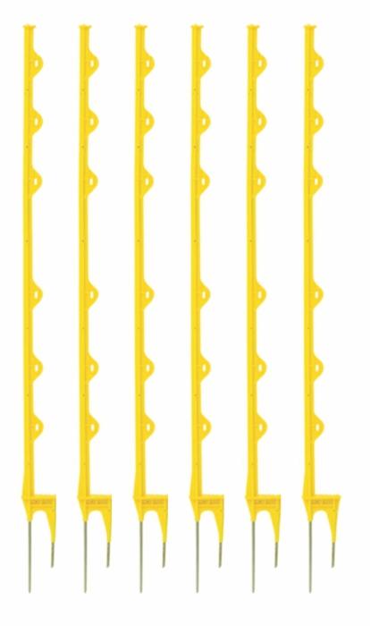Vareta Plástica Amarela 6 alças 1,14 m  - Curto Compras Rural