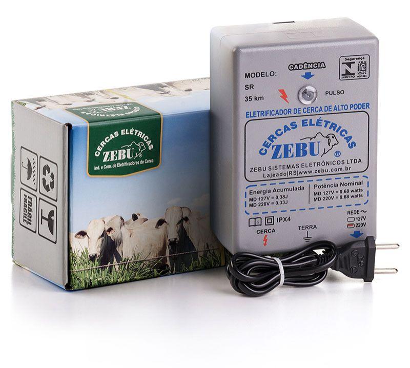 Eletrificador de Cerca Rural Zebu SR 30km 127V  - Curto Compras Rural