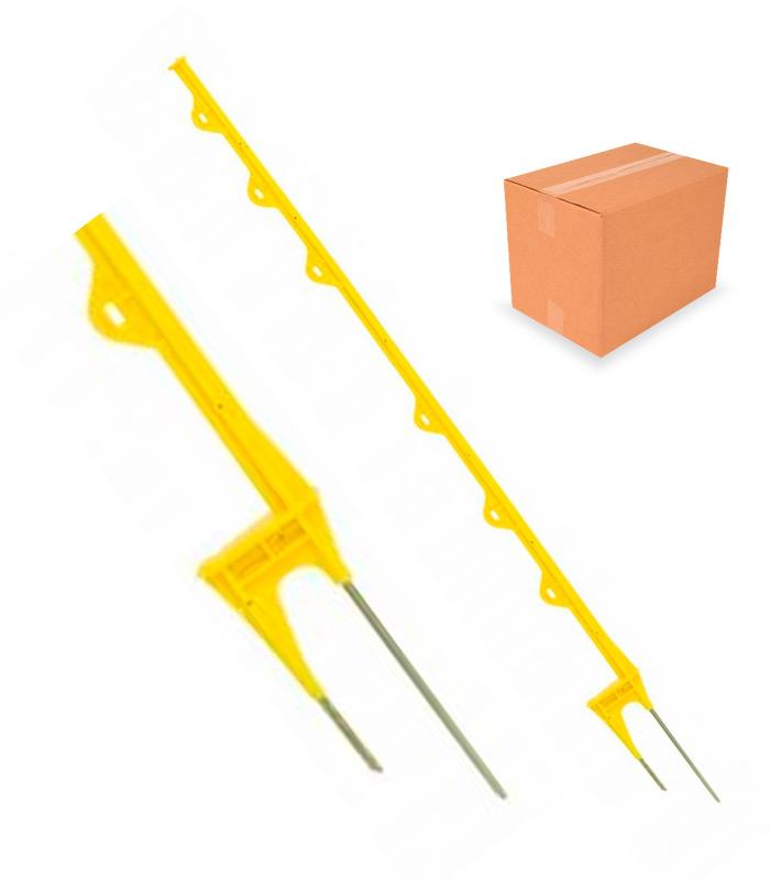 Vareta Plástica Amarela 6 alças 1,14m - Caixa com 25 unidades  - Curto Compras Rural