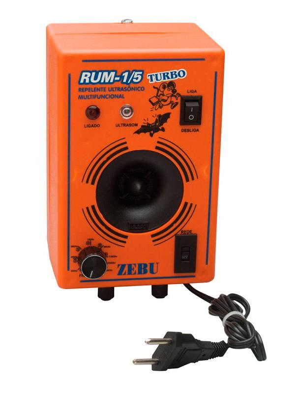 Aparelho para Espantar Ratos e Morcegos RUM Turbo para 750m²  - Curto Compras Rural
