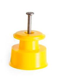 Isolador Roldana 30x30 Amarelo - 100 Unidades  - Curto Compras Rural