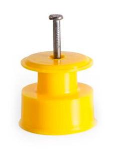 Isolador Roldana 36x36 Amarelo - 100 Unidades  - Curto Compras Rural