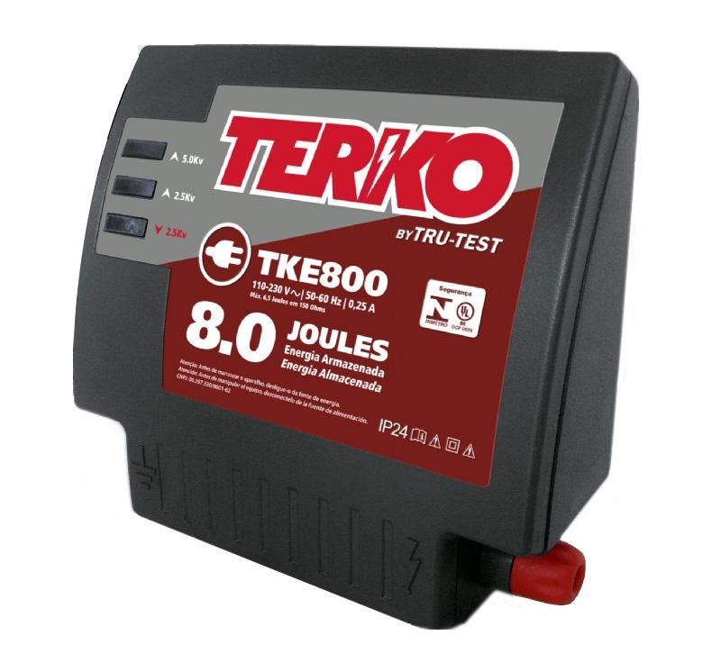 Eletrificador de Cerca Rural Terko TKE 800 - 6,2 joules liberados  - Curto Compras Rural