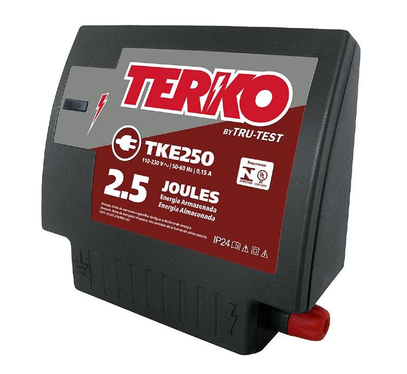Eletrificador de Cerca Rural Terko TKE 250 - 2 joules liberados  - Curto Compras Rural