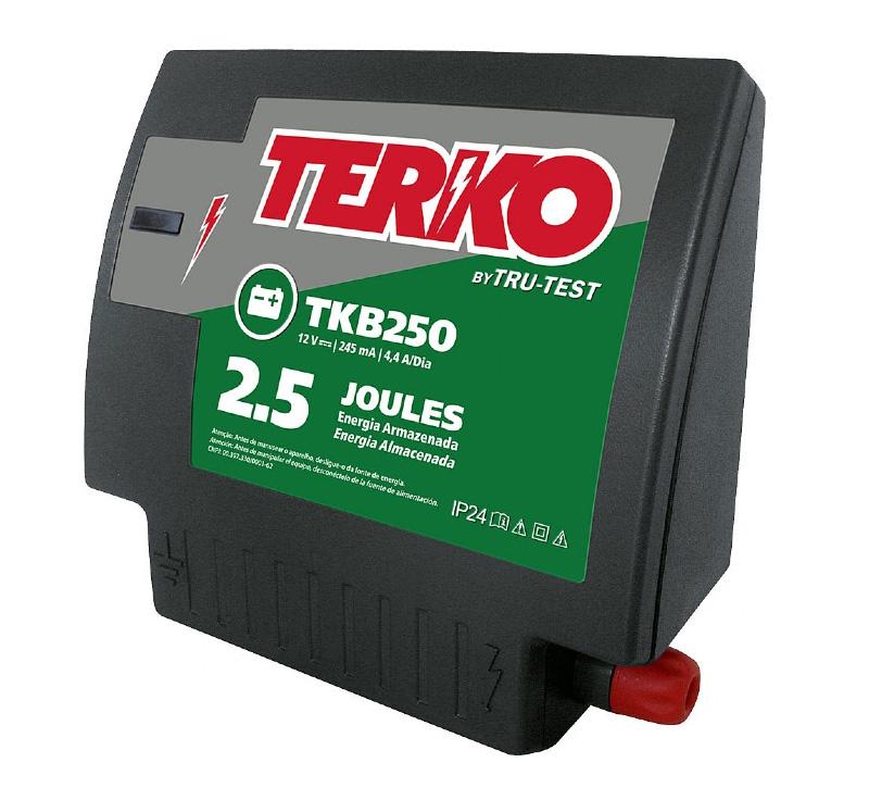 Eletrificador de Cerca Rural Terko TKB 250 - 2 joules liberados  - Curto Compras Rural