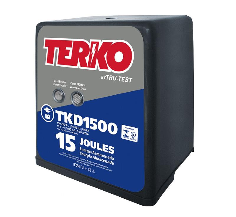 Eletrificador de Cerca Rural Terko TKD 1500 - 10,7 joules liberados  - Curto Compras Rural