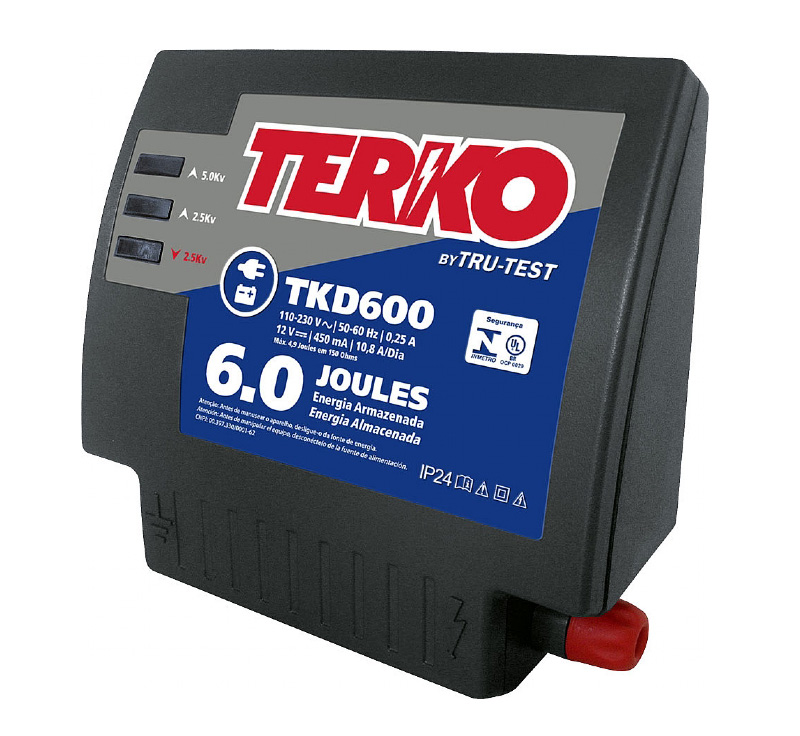 Eletrificador de Cerca Rural Terko TKD 600 - 4,9 joules liberados  - Curto Compras Rural