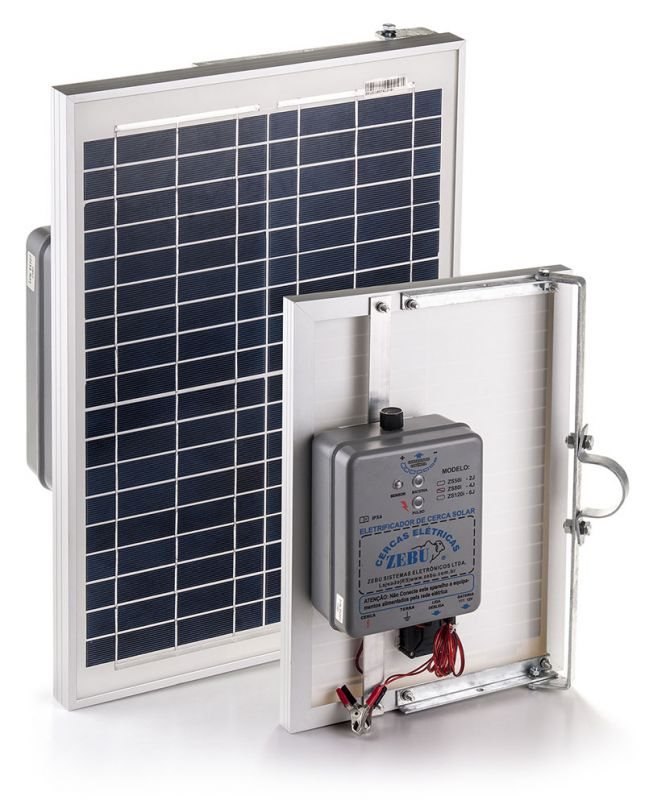 Eletrificador de Cerca Elétrica Rural Solar Zebu ZS50i 50km  - Curto Compras Rural