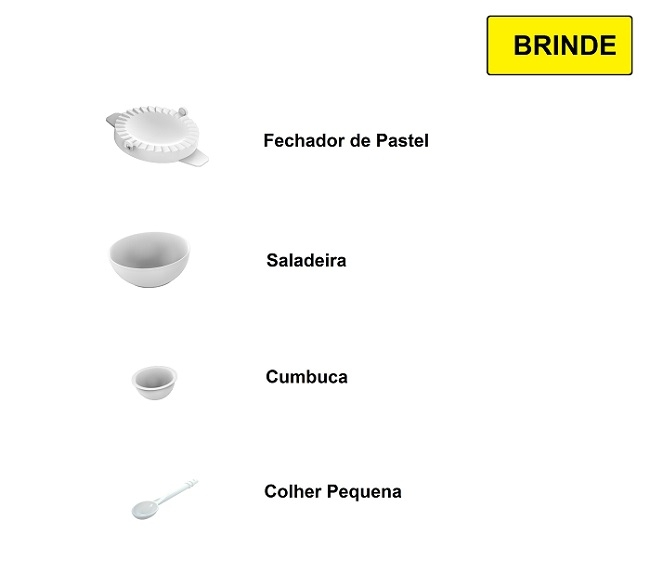 Laminador de Massas Stang Anodilar Branco com Cortador 28cm  - Curto Compras Rural
