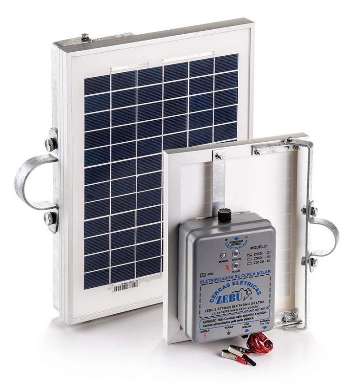 Eletrificador de Cerca Elétrica Rural Solar Zebu ZS80i 80km  - Curto Compras Rural