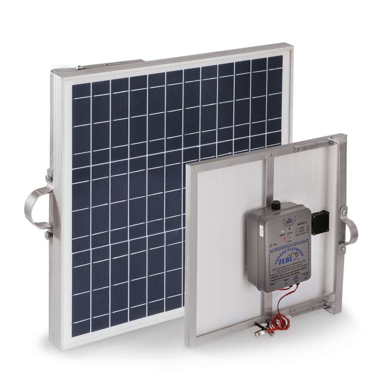Eletrificador de Cerca Rural Solar Zebu ZS120i 120km  - Curto Compras Rural