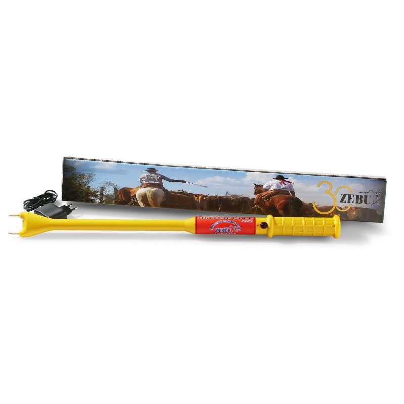 Ferrão Eletrônico Zebu 9V Recarregável + carregador  - Curto Compras Rural