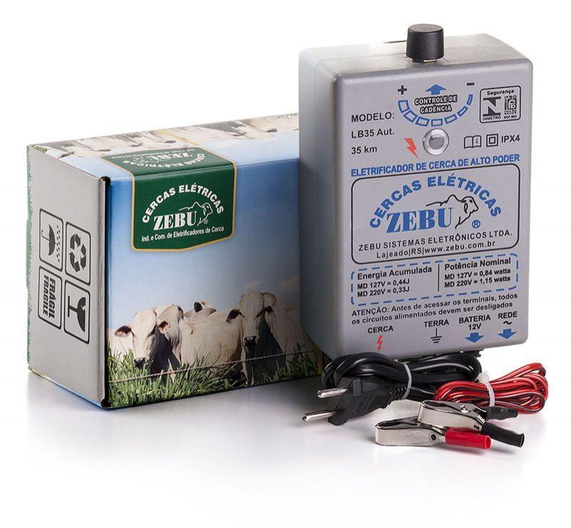 Eletrificador de Cerca Rural Zebu LB35 35km Bivolt  - Curto Compras Rural