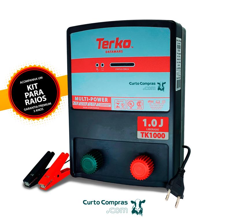 Eletrificador de Cerca Rural Terko TK 1000  - Curto Compras Rural