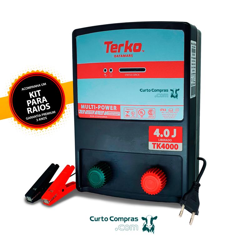 Eletrificador de Cerca Rural Terko TK 4000  - Curto Compras Rural