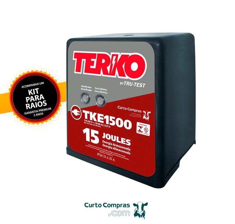 Eletrificador de Cerca Rural Terko TKE 1500 - 10,6 joules liberados  - Curto Compras Rural