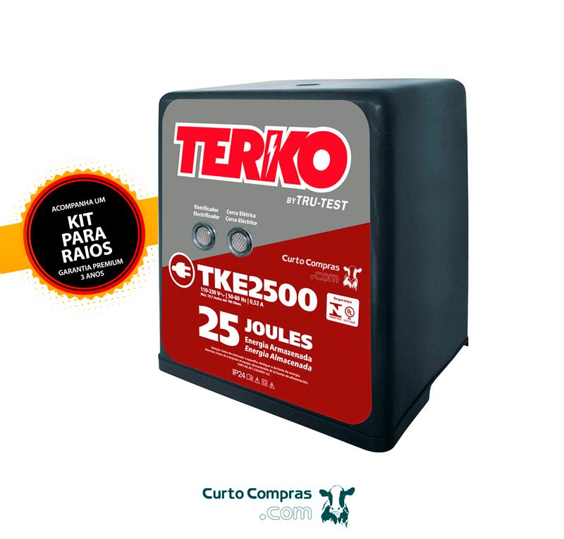 Eletrificador de Cerca Rural Terko TKE 2500 - 18,2 joules liberados  - Curto Compras Rural