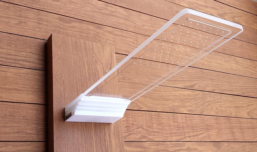 Chuveiro de parede aquadue translucido aquarium condec for Duchas de piscina