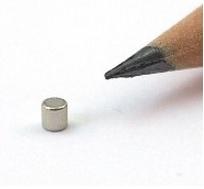 Imã de Neodímio Cilindro N35 2x2 mm