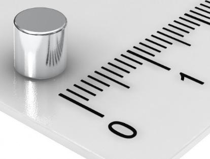 Imã de Neodímio Cilindro N35 5x5 mm  - Polo Magnético