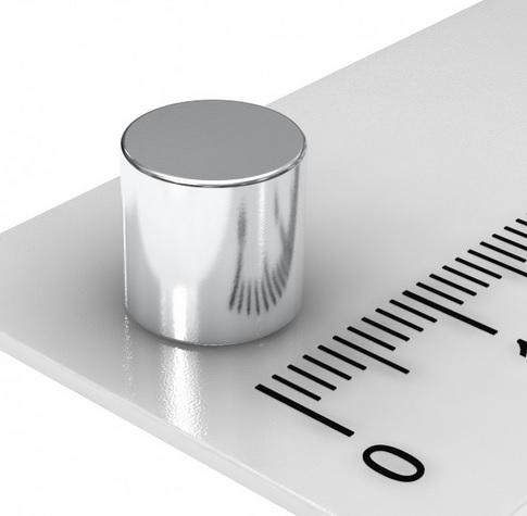 Imã de Neodímio Cilindro N35 8x8 mm