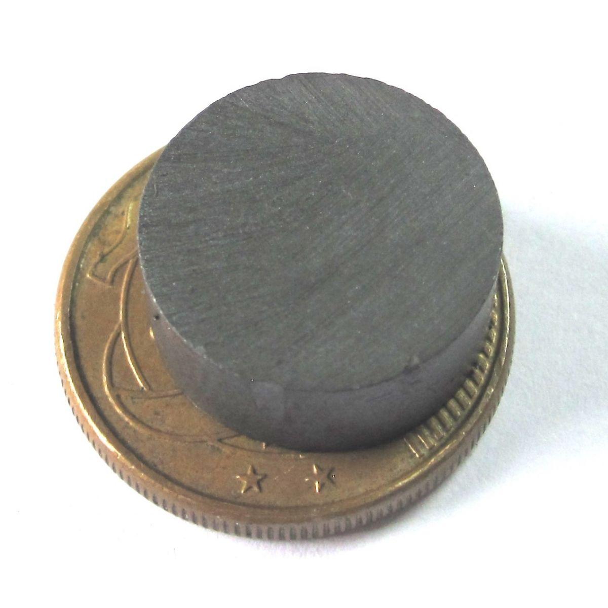 Imã de Ferrite Disco (cerâmica) Y30 15x6 mm