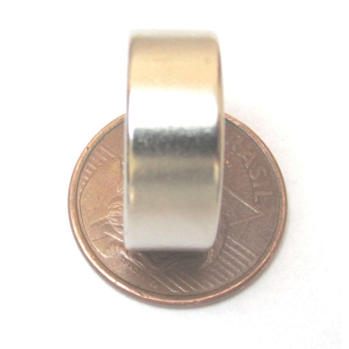 Imã de Neodímio Disco N35 20x8 mm
