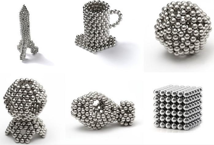 Neocubo ímã de neodímio Ø5mm 216 esferas  - Polo Magnético