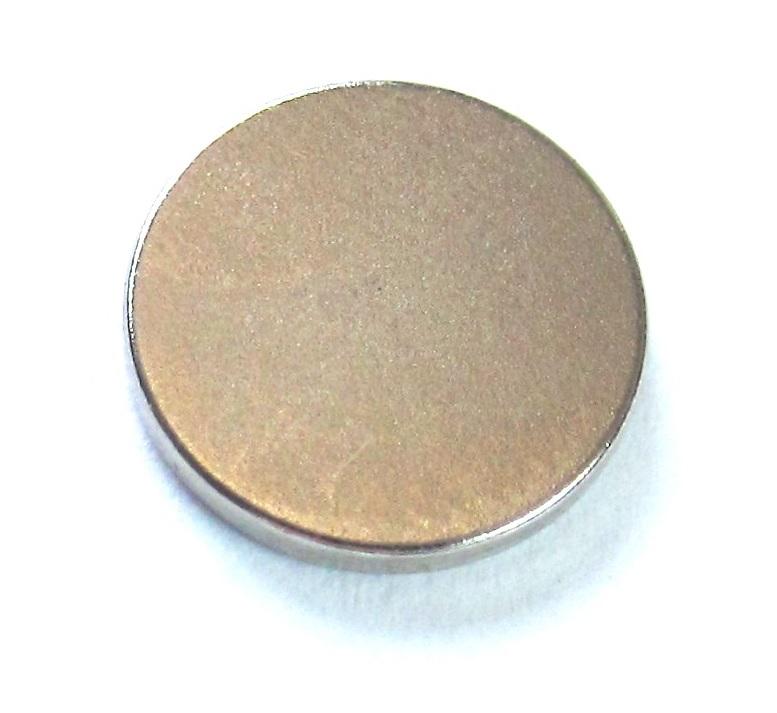 Imã de Neodímio Disco N35 12,5x1,5 mm  - Polo Magnético