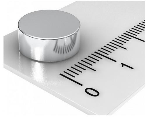 Imã de Neodímio Disco N35 12x5 mm