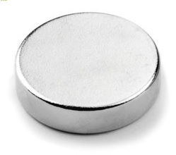 Imã de Neodímio Disco N35 13x3 mm  - Polo Magnético