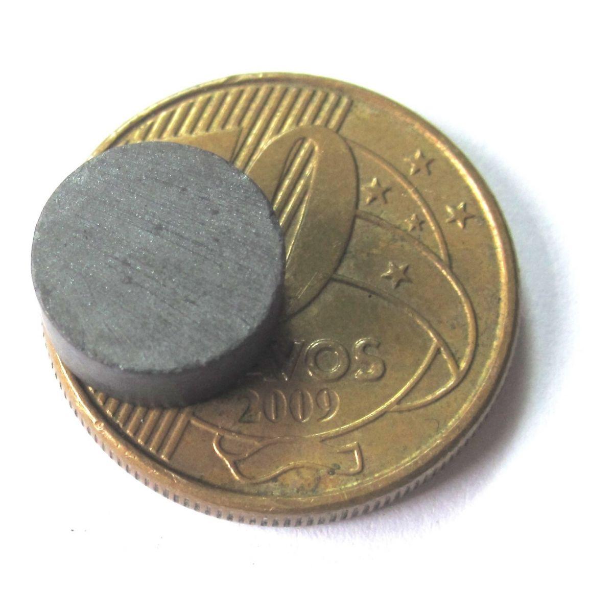 Imã de Ferrite Disco (cerâmica) Y30 10x4 mm