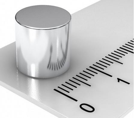 Imã de Neodímio Disco N35 10x8 mm